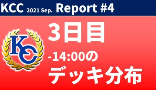 【KC Chart】KCカップ 2021/Sep. 3日目 -14:00の分布【遊戯王デュエルリンクス】